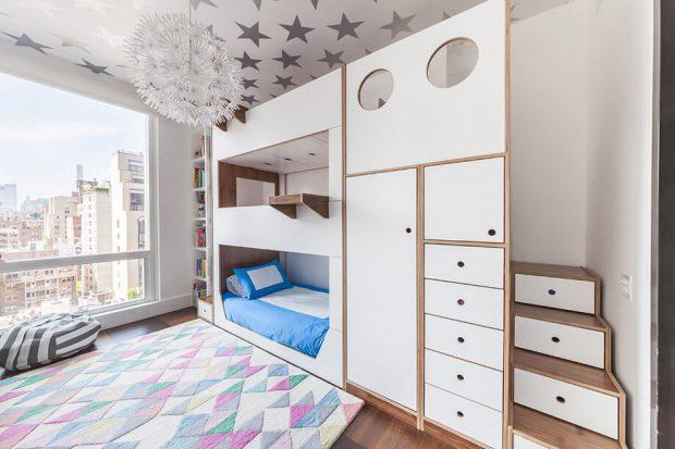 เตียงนอนและตู้เก็บของ