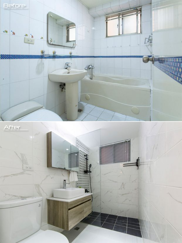 ก่อนและหลังรีโนเวทห้องน้ำ