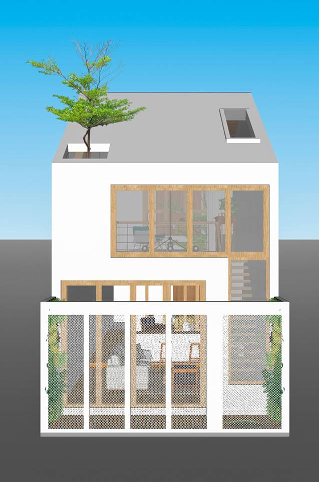 บ้านสไตล์มินิมอลในเวียดนาม-3D