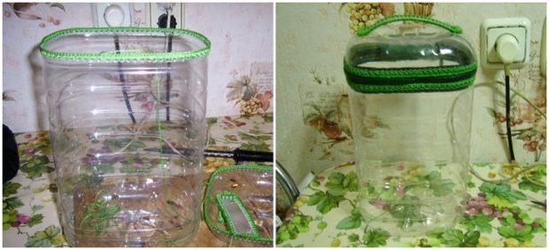กระเป๋าจากขวดน้ำพลาสติก