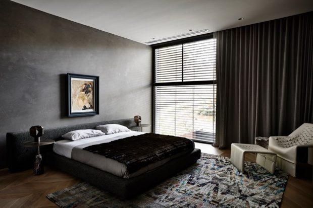 ห้องนอนโทนสีดำ