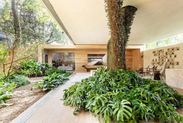 บ้านเปิดกว้างรับธรรมชาติ