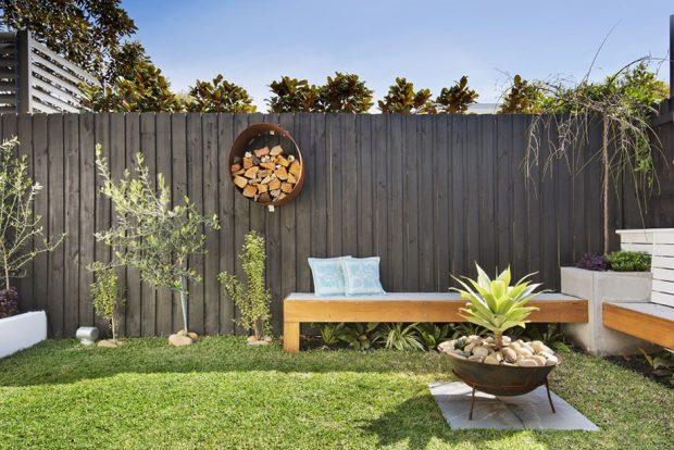 มุมพักผ่อนในสวนหลังบ้าน