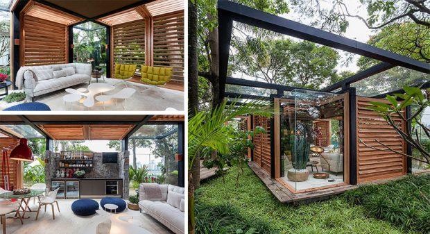 บ้านกระจกกลางธรรมชาติ