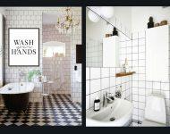 ตัวอย่างห้องน้ำโทนสีขาวดำ