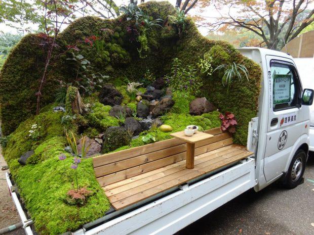 จัดสวนญี่ปุ่นบนรถกระบะ