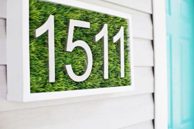 D.I.Y ป้ายเลขที่บ้าน