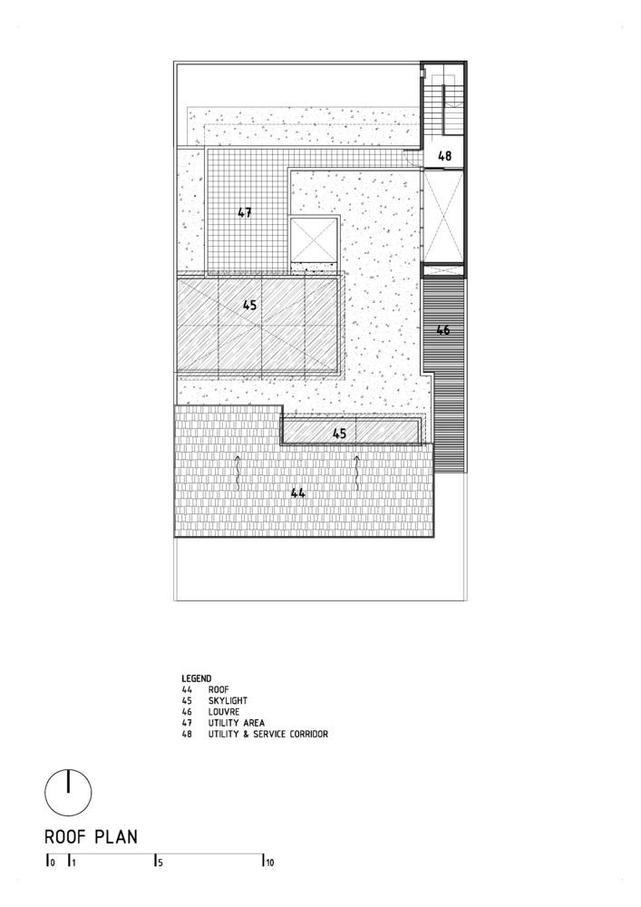 DL House แปลนบ้าน-ROOF PLAN
