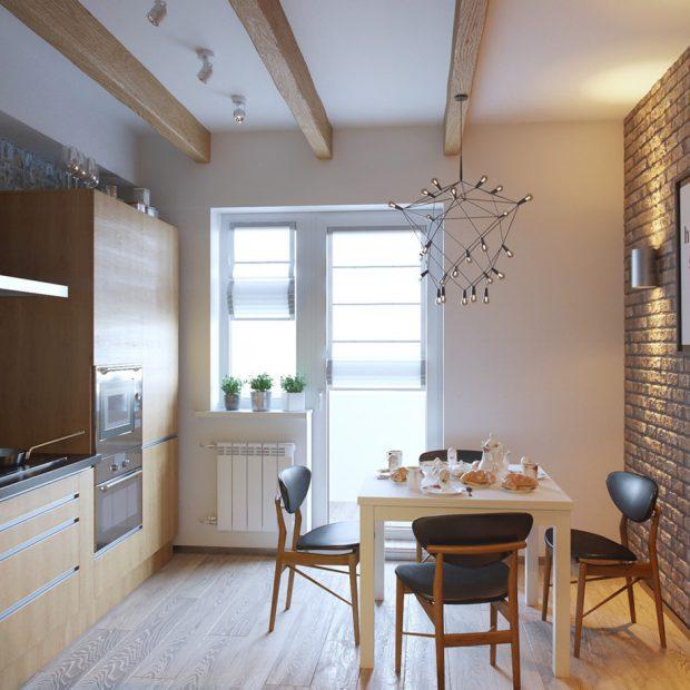 ช่องแสงขนาดใหญ่ในครัว