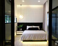 ห้องนอนโทนสีขาวดำ