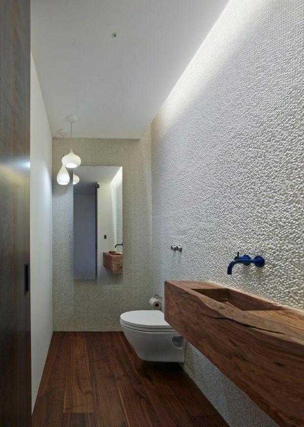 ห้องน้ำตกแต่งซิงค์ไม้