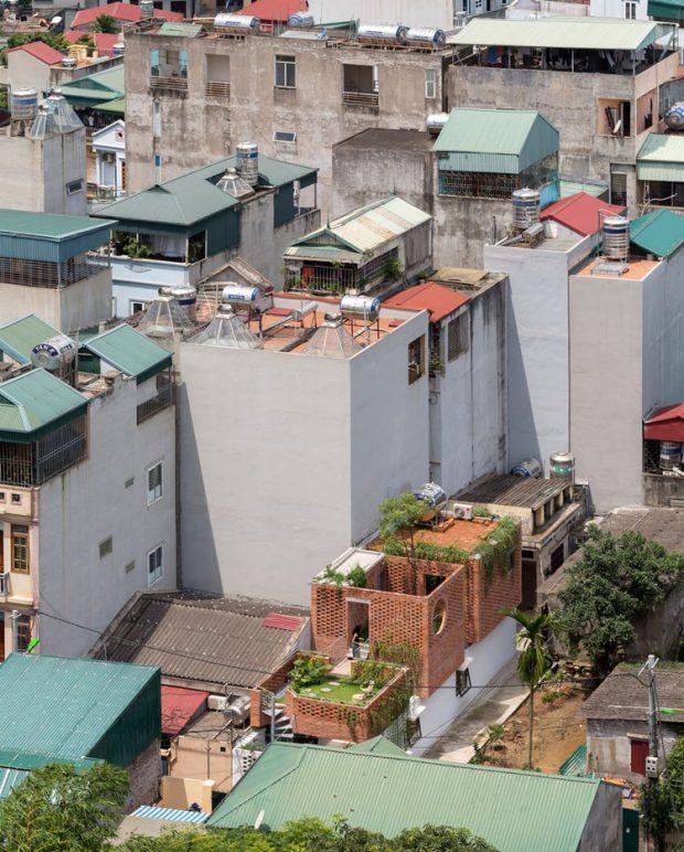 ภาพบ้านในมุมสูง