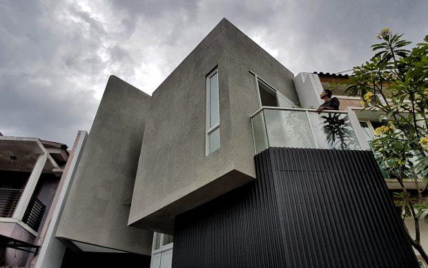 บ้านโมเดิร์นโทนสีเทาดำ