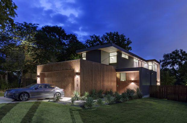 บ้านโมเดิร์นคอนกรีตและไม้