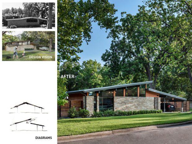 บ้านสไตล์ Mid century-before-after