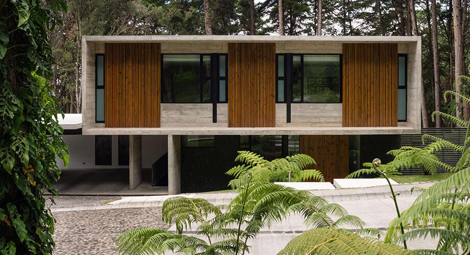 บ้านคอนกรีตในป่า