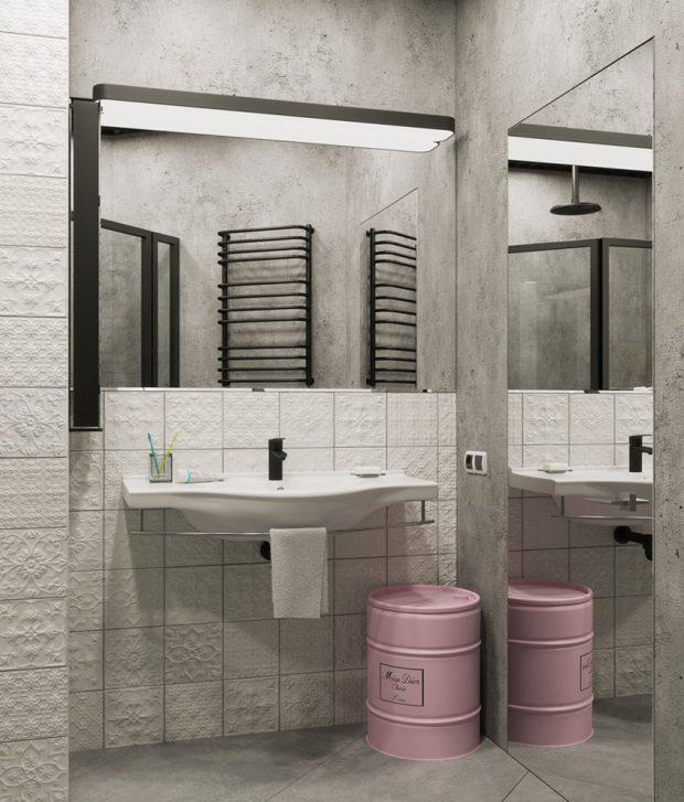ห้องน้ำปูนเปลือยเก๋ ๆ