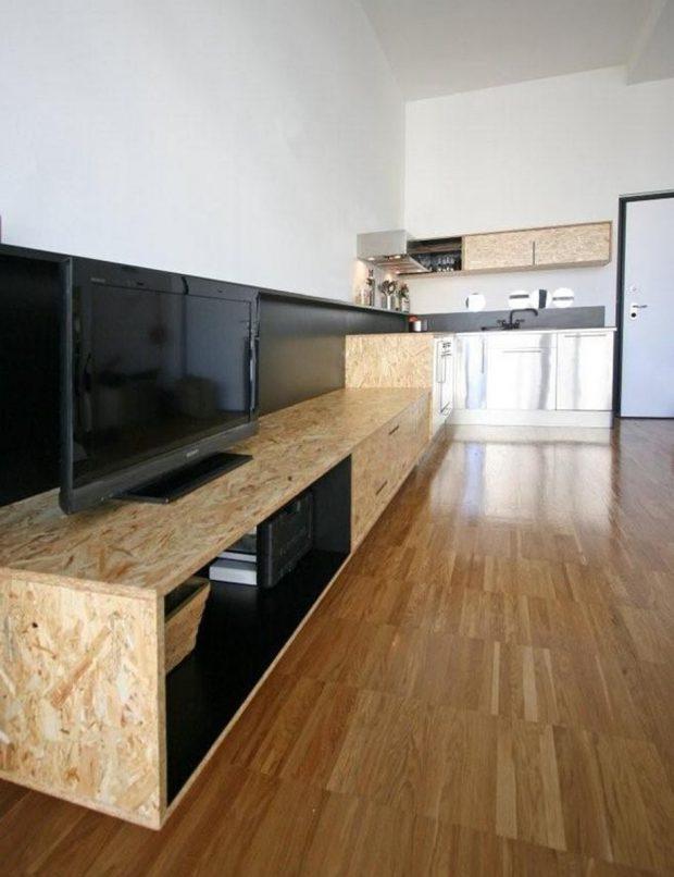 ตู้วางทีวีไม้ OSB