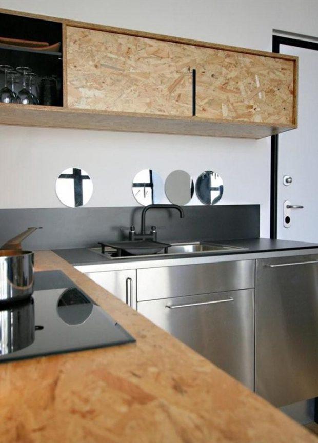 ชุดตู้ครัวจากไม้ OSB