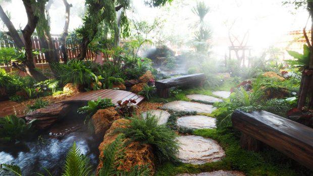 tropical rainforest garden