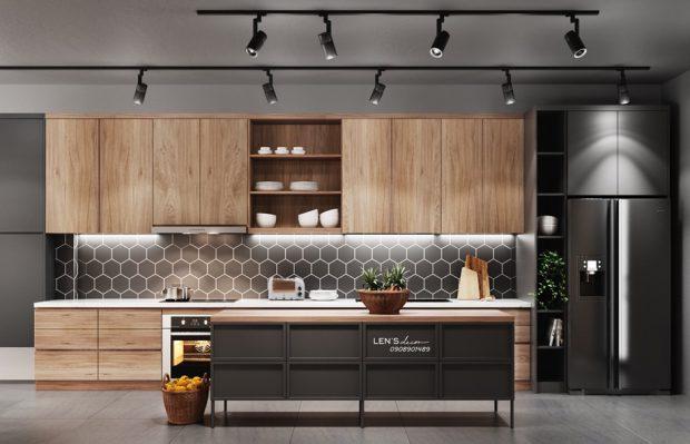 ห้องครัว Modern ตกแต่งงานไม้