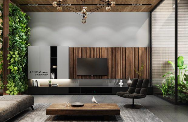 ห้องนั่งเล่น Modern บรรยากาศธรรมชาติ