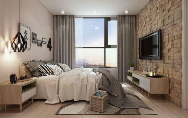 ห้องนอน Nordic สไตล์