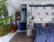 ตกแต่งห้องนอนโทนสีน้ำเงิน-ขาว