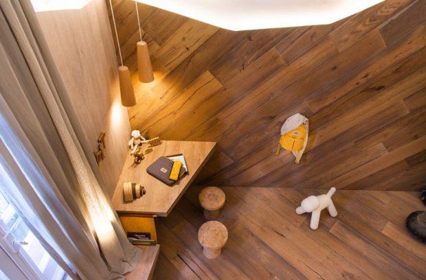 ห้องนอนเด็กตกแต่งไม้สไตล์โมเดิร์น