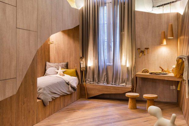 เตียง 2 ชั้นแบบบิวท์อิน