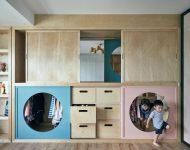 ตู้เสื้อผ้าเชื่อมต่อห้องนอนเด็ก