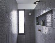 ห้องน้ำโทนสีเทา