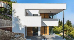 บ้านโมเดิร์นสีขาว