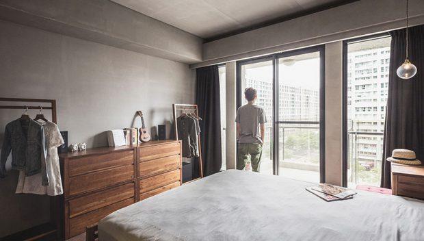 ห้องนอนเรียบง่ายสไตล์ญี่ปุ่น