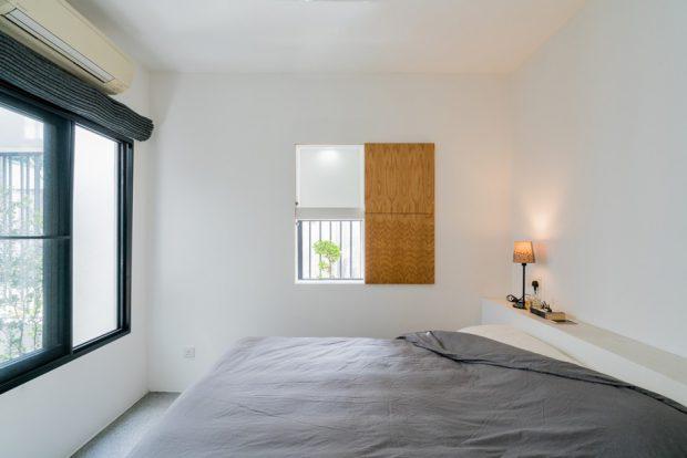 ห้องนอนเรียบง่าย