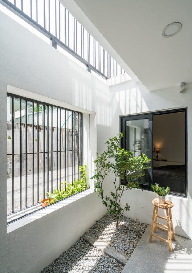 ช่องแสงและสวนในบ้าน