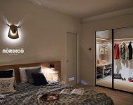 โคมไฟรูปหัวกวางสไตล์นอร์ดิก