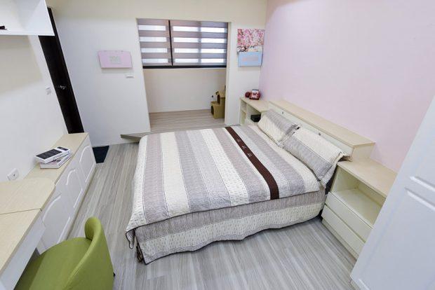 ห้องนอนโทนสีเทา