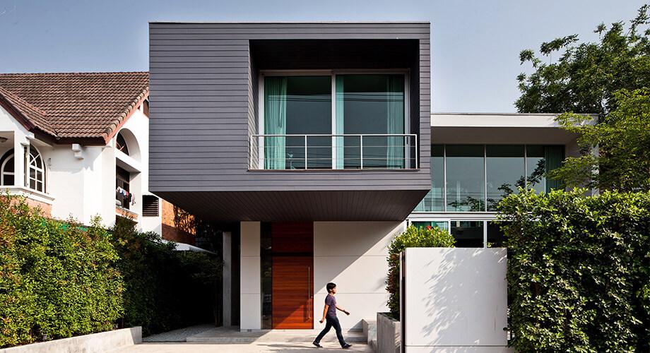 สร้างบ้านโมเดิร์นหลังเล็ก