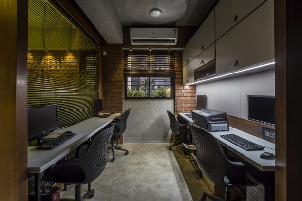 ห้องทำงานตกแต่งกลิ่นอายลอฟท์