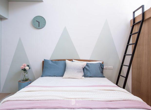 ห้องนอนเพนท์ลายภูเขา