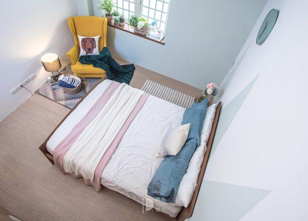 ห้องนอนโทนสีฟ้า-เทา