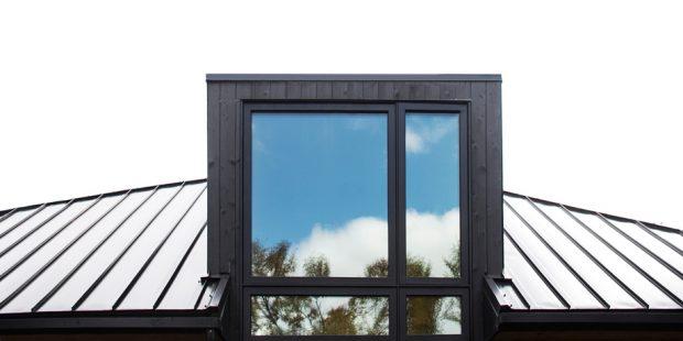 หน้าต่างกรอบสีดำ