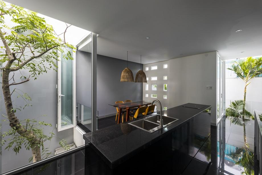 ห้องทานข้าวเปิดเชื่อมสวน