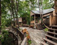 บ้านไม้ในสวน