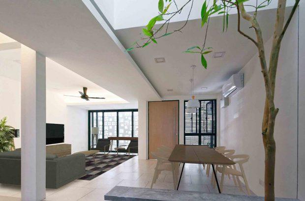 เจาะช่องว่างให้ต้นไม้โตในบ้าน