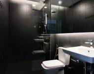 ห้องน้ำโทนสีดำ-ขาว