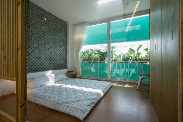 ห้องนอนบรรยากาศสดชื่น