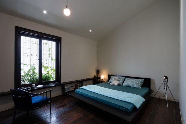 ห้องนอนพื้นไม้