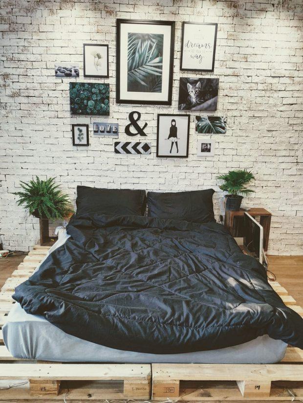 ห้องนอนสแกนดิเนเวียนลอฟท์